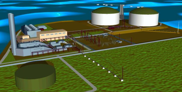 This is a power plant and LNG facility.