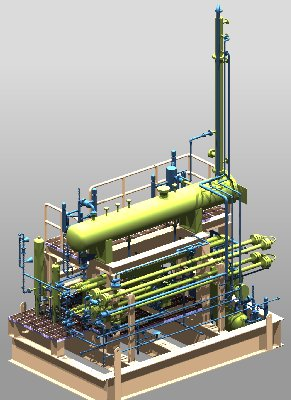 This is a glycol regeneration skid